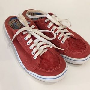 Keds Slip On Lace Up Sneakers Red Size 8